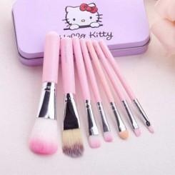 ست برس آرایشی هلو کیتی hello kitty بسته 7 عددی