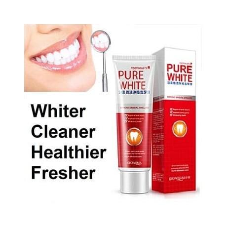 خمیر دندان سفیدکننده از برند بیواکوا BIOAQUA PURE WHITE Cranberry mint toothpaste