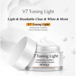 کرم مرطوب کننده و سفید کننده صورت کریستالی 7 ویتامینه بیوآکوا V7 Deep Hydration Bioaqua